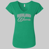 Glitter - 6750VL - Ladies' Triblend V-Neck T-Shirt